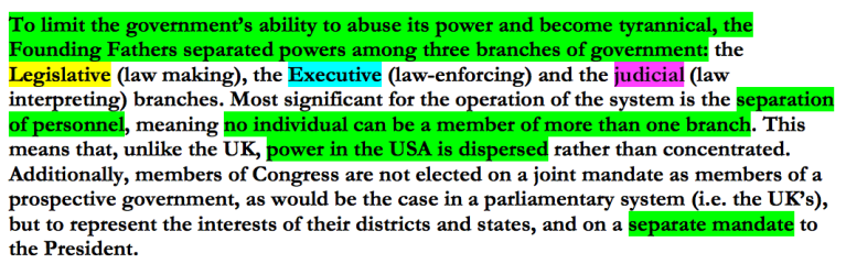 separation of powers importance of